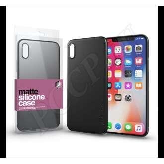 Apple iPhone X fekete ultravékony szilikon hátlap -  Xprotector
