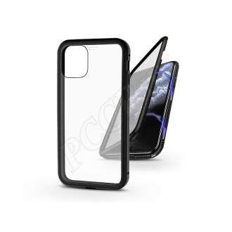 Apple Iphone 11 Pro fekete mágneses 2 részes hátlap előlapi üveggel