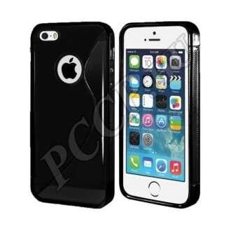 Apple iPhone 5 fekete szilikon hátlap