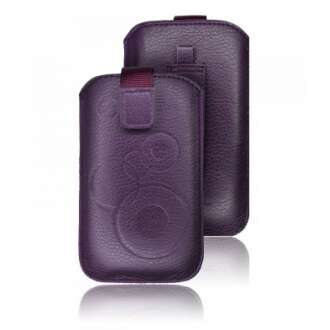 Apple Iphone 5 lila bőr tok
