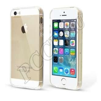 Apple iPhone 5S átlátszó ultravékony szilikon hátlap