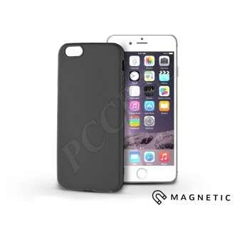 Apple Iphone 6 fekete szilikon hátlap beépített fémlappal