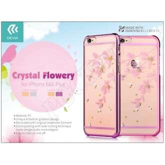 Apple Iphone 6 pink hátlap Swarovski kristállyal
