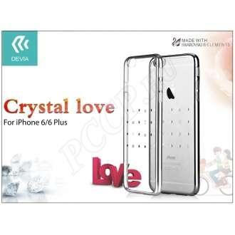 Apple Iphone 6 ezüst hátlap Swarovski kristállyal