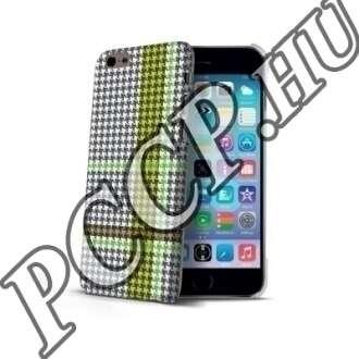 Apple Iphone 6 zöld kockás műanyag hátlap