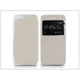 Apple Iphone 6S Plus fehér oldalra nyíló flip tok