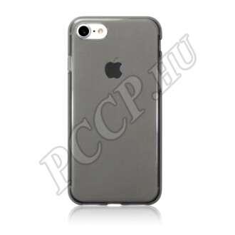 Apple iPhone 7 fekete-átlátszó ultravékony szilikon hátlap