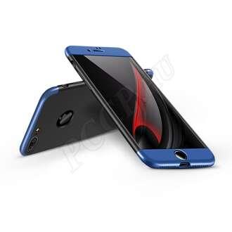 Apple Iphone 7 fekete/kék három részből álló védőtok
