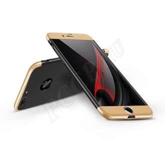Apple Iphone 7 Plus fekete/arany három részből álló védőtok