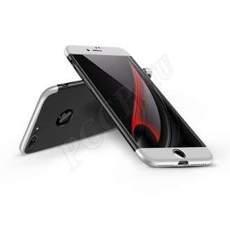 Apple Iphone 7 Plus fekete/ezüst három részből álló védőtok