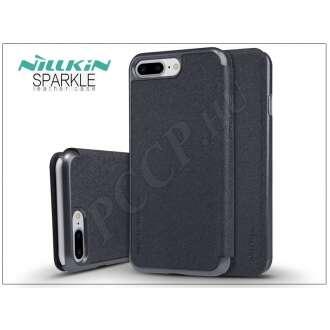 Apple Iphone 7 Plus fekete oldalra nyíló flip tok