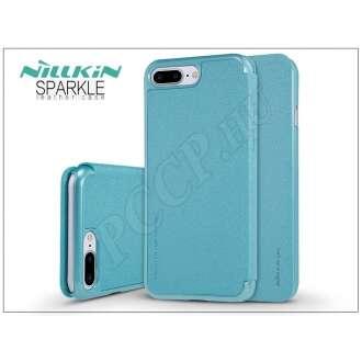 Apple Iphone 7 Plus kék oldalra nyíló flip tok