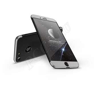 Apple Iphone 8 fekete/ezüst három részből álló védőtok