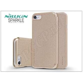 Apple Iphone 8 arany oldalra nyíló flip tok