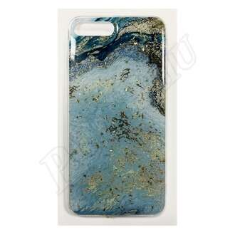 Apple iPhone 8 Plus kék márványos szilikon hátlap