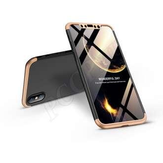 Apple Iphone X fekete/arany három részből álló védőtok