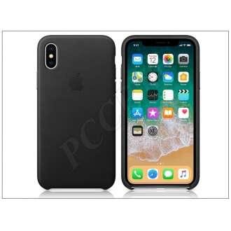 Apple Iphone X fekete bőr hátlap (gyári)