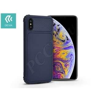 Apple Iphone X kék szilikon hátlap