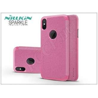 Apple Iphone X pink oldalra nyíló flip tok