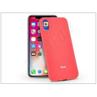 Apple Iphone X pink szilikon hátlap