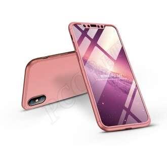 Apple Iphone X rosegold három részből álló védőtok