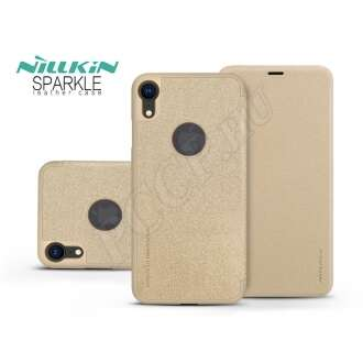 Apple Iphone Xr arany oldalra nyíló flipes tok