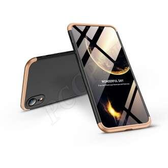 Apple Iphone Xr fekete/arany három részből álló védőtok