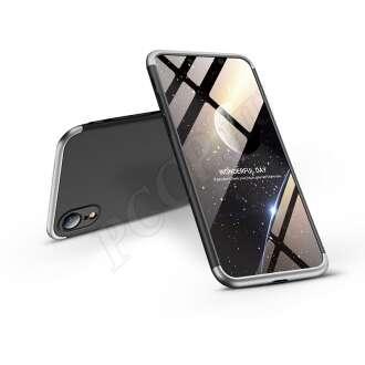 Apple Iphone Xr fekete/ezüst három részből álló védőtok
