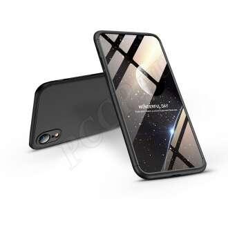 Apple Iphone Xr fekete három részből álló védőtok