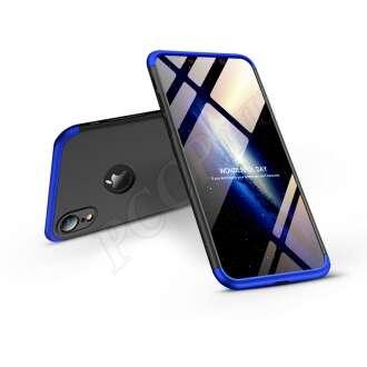 Apple Iphone Xr fekete/kék három részből álló védőtok