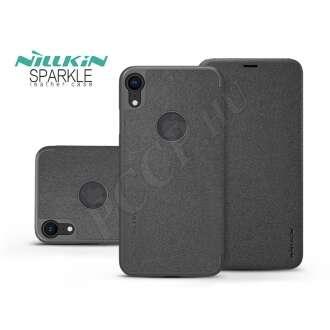 Apple Iphone XR fekete oldalra nyíló flip tok