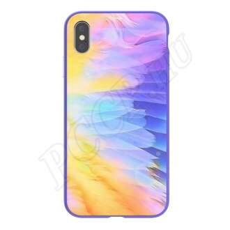 Apple iPhone XR lila ombre hátlap