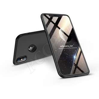 Apple Iphone XS fekete három részből álló védőtok