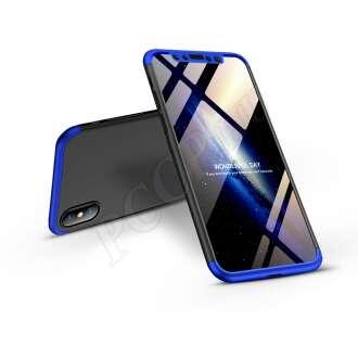 Apple Iphone XS fekete/kék három részből álló védőtok