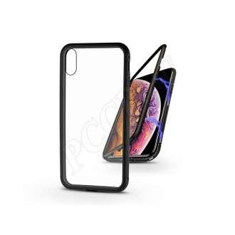 Apple Iphone XS fekete mágneses 2 részes hátlap előlapi üveg nélkül