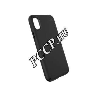 Apple Iphone Xs fekete műanyag hátlap