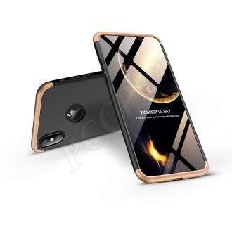 Apple Iphone Xs Max fekete/arany három részből álló védőtok