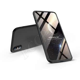 Apple Iphone Xs Max fekete három részből álló védőtok