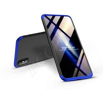Apple Iphone Xs Max fekete/kék három részből álló védőtok