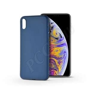 Apple Iphone Xs Max kék szilikon hátlap