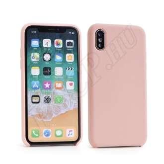 Apple iPhone Xs Max rózsaszín szilikon hátlap