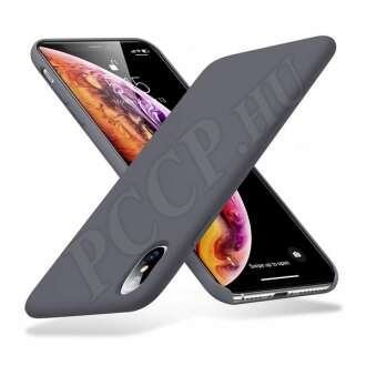 Apple iPhone Xs Max szürke szilikon hátlap