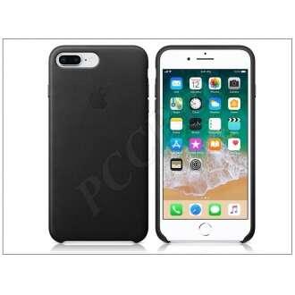 Apple Iphone 7 Plus fekete bőr hátlap