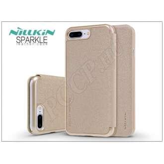 Apple Iphone 8 Plus arany oldalra nyíló flip tok