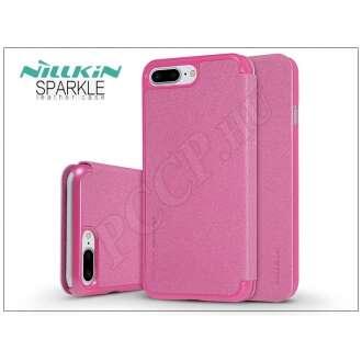 Apple Iphone 8 Plus pink oldalra nyíló flip tok