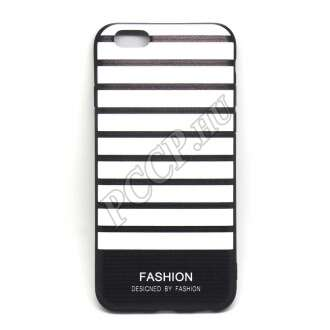 Apple Iphone 7 Plus fekete/fehér szalagos design hátlap