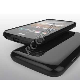 LG K3 (K100) fekete szilikon hátlap