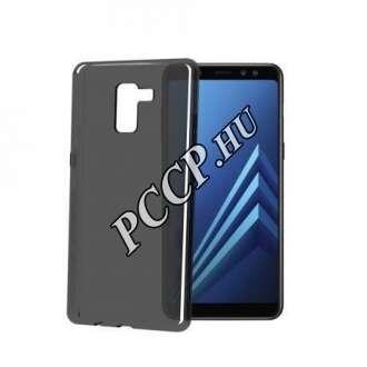 Samsung Galaxy A8 (A530) fekete szilikon hátlap
