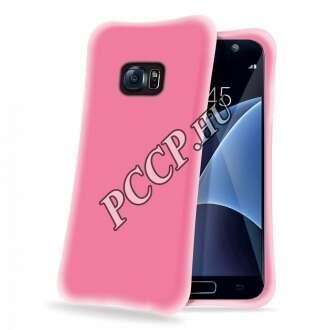 Samsung Galaxy S7 pink ütésálló szilikon hátlap