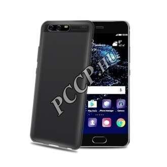 Huawei P10 Plus fekete szilikon hátlap